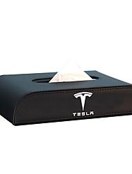 cheap -Car Tissue Holder  Napkin Holder Backseat Tissue Case PU Leather Tissue Purse Case Holder for Tesla Model 3/Y/X/S