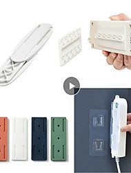 cheap -2pcs Plug Hook Seamless Punch Free Plug Sticker Holder Wall Fixer Power Strip Holders Storage Sockets Wall Shelf Stand Holder Hanger