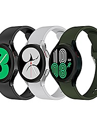 cheap -bands compatible with samsung galaxy watch 4 classic band 42mm 46mm 40mm 44mm men women silicone 20mm strap replacement of samsung watch 4 bands (3 pack)