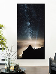 cheap -Wall Art Canvas Prints Painting Artwork Picture Sky night Landscape Home Decoration Decor Rolled Canvas No Frame Unframed Unstretched