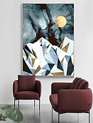 cheap -Wall Art Canvas Prints Painting Artwork Picture Landscape Sunrise Sunset Gold Home Decoration Decor Rolled Canvas No Frame Unframed Unstretched
