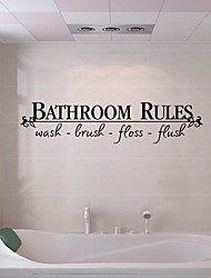 cheap -Wall Stickers Bathroom Toilet Removable Pre-pasted PVC Home Decoration Wall Decal 1pc