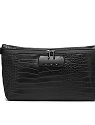 cheap -Unisex Bags PU Leather Tobacco Pouch Zipper Crocodile Party / Evening Holiday Messenger Bag Black