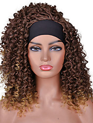 cheap -Synthetic Wig Curly Afro Curly With Headband Wig Short A1 A2 A3 A4 A5 Synthetic Hair Women's Cosplay Soft Party Black Brown