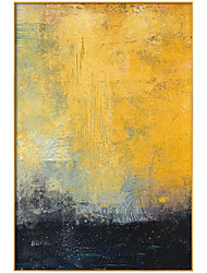 cheap -Oil Painting Handmade Hand Painted Wall Art Modern Yellow and Black Abstract Picture Home Decoration Decor Rolled Canvas No Frame Unstretched