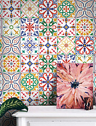 cheap -Thickened Tile Self-adhesive Paper Turkish Style Kitchen Oil-proof And Waterproof Removable Wall Stickers