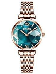 cheap -OLEVS New Women Luxury Jewel Quartz Watch Waterproof Stainless Steel Strap Watch For Women Fashion Date Clock