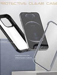 cheap -Phone Case For Apple Bumper iPhone 13 Pro Shockproof Dustproof Translucent Transparent Acrylic PC