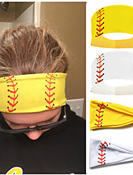 cheap -4PCS Softball Headband Sweat-absorbent Headband Male And Female Headband Yoga Fitness Student Competition Headscarf Headwear