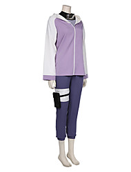 cheap -Inspired by Naruto Hyuga Hinata Anime Cosplay Costumes Japanese Cosplay Suits Outfits Top Waist Accessory Belt For Women's / Socks / Shorts / Hat / Hoodie Cloak / Bow Tie