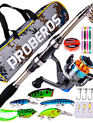 cheap -Telescopic Fishing Rod and Reel Combo Fishing Pole Set and Fishing Tackle Box with lures and lines 180cm Carbon Fiber Portable Lightweight Freshwater and Saltwater Sea Fishing