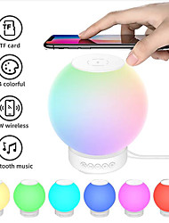 cheap -Portable Wireles Night Light Bluetooth Speaker Wireless Charger 15W 2000 Mah Battery 14 Lighting Modes RGB Voice-activated Mode Dimmable Colors