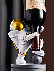 cheap -Modern Minimalist Spaceman Astronaut Wine Rack Decoration Creative Home Living Room Wine Cabinet Decoration Furnishings Crafts