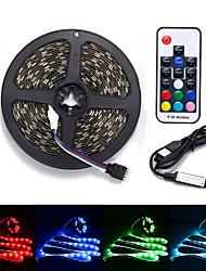 cheap -100CM LED Light Strips RGB Tiktok Lights TV Background atmosphere lamp USB 5V Black Waterproof 15W 5050 10mm with 17Key RF Controller DC 5V