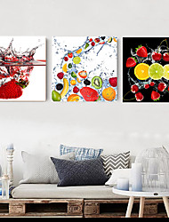 cheap -3 Panels Wall Art Canvas Prints Painting Artwork Picture Fruit Still Life Home Decoration Decor Rolled Canvas No Frame Unframed Unstretched