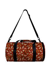 cheap -Unisex Bags Polyester Duffle Bag Zipper Pumpkin Halloween Daily Outdoor 3D Print Wine