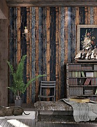 cheap -Wallpaper Wall Covering Sticker Film Modern Water ripple wood non Woven Home Decor 53*1000cm