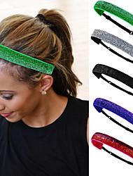 cheap -5 Pcs/set Women's Elastic Headband Non-slip Headband Velvet Headband Yoga Sports Headband Flashing Fashion Hair Accessories