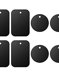 cheap -OTOLAMPARA Universal Metal Plate 8 Pack for Magnetic Phone Car Mount Holder Cradle with Adhesive 4 Rectangle and 4 Round Black