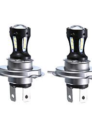 cheap -OTOLAMPARA 18W H4 Motorcycle Headlight 3030 18SMD 950LM 6000K DC 12-24V LED HeadL Lamp Bulb H4 White 2pcs