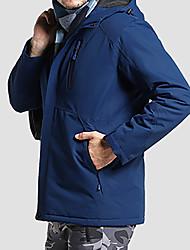 cheap -Men's Jacket Sport Fall Winter Regular Coat Stand Collar Regular Fit Rain Waterproof Sporty Sports Jacket Long Sleeve Solid Color Full Zip Blue Army Green Gray