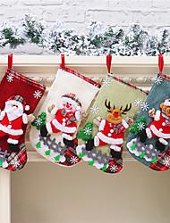 cheap -Christmas Stocking Gift Bag Christmas Decoration Santa Snowman Large Gift Candy Bag Christmas Stocking Decoration