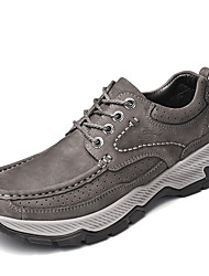 cheap -Men's Trainers Athletic Shoes Daily Cowhide Gray Black Fall Spring