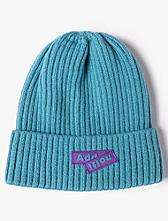 cheap -Knit Beanie Hat Winter Outdoor Thermal Thick Polar Fleece Snow Skull Cap for Men and Women Camping Hiking Skiing