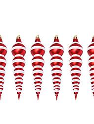 cheap -Christmas Decorations Shaped Christmas Balls Christmas Tree Pendants 14cm Painted Gourd Balls Red Plastic Balls