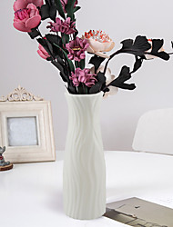 cheap -Plastic Vase Nordic Color Vase Dry And Wet Flower Flower Arrangement Container Decoration Crafts Imitation Glaze Resistant To Fall