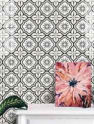 cheap -25 Pieces of European-style Thickened Tile Self-adhesive Paper Beige Tile Stickers Kitchen Oil-proof And Waterproof Removable Wall Stickers