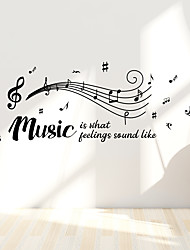 cheap -Music Notes Living Room Bedroom Study Background Wall Stickers Wholesale Foreign Trade