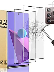 cheap -[2 +2 pack] galaxy note 20 ultra screen protector, and lens protective film [fingerprint id enabled] [3d full covered] [9h hardness] hd tempered glass film,for samsung galaxy note 20 ultra 5g