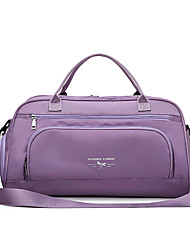 cheap -Women's Large Capacity Waterproof Sports Oxford Cloth Travel Bag Zipper Solid Color Daily Outdoor Purple Dusty Rose Pink Green