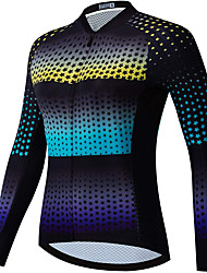 cheap -21Grams Women's Long Sleeve Cycling Jersey Spandex Black Stars Bike Top Mountain Bike MTB Road Bike Cycling Quick Dry Moisture Wicking Sports Clothing Apparel / Stretchy / Athleisure