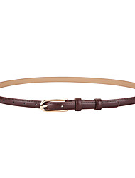 cheap -Women's Skinny Belt Party Street Dailywear Holiday Black White Belt Pure Color Red Fall Winter Spring Summer