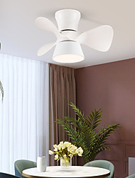 cheap -LED Ceiling Fan Light 55 cm Dimmable Ceiling Fan Metal Artistic Style Vintage Style Modern Style Painted Finishes Nature Inspired LED 220-240V
