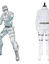cheap -Inspired by Cells at Work White Blood Cell Anime Cosplay Costumes Japanese Cosplay Suits Top Pants Waist Belt For Men's