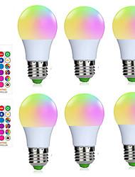 cheap -6pcs 4pcs Dimmable E27 Smart Control Lamp Led RGBW Light 3W A50 Led Lamp Colorful Changing Bulb Led Lampada RGBW White Decor Home