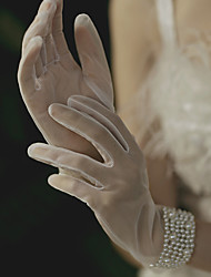 cheap -Polyester Elbow Length Glove Gloves / Imitation Pearl With Faux Pearl / Solid