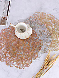 cheap -Creative Hollow Heat Insulation Pad PVC Rose Bronzing Decoration Non-slip Table Mat Western Place Mat Simple Wind Plate Coaster