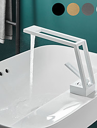cheap -Bathroom Sink Faucet - Classic Electroplated / Painted Finishes Centerset Single Handle One HoleBath Taps