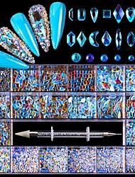 cheap -21 Grid Glass Nails Rhinestone for Art Decorations Fashion Nail Rhinestones Accessories for DIY Manicure