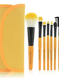 cheap -7 Pieces Professional Beauty Brushes Sets Eyeshadow Brush with Luxury Makeup Bag Small Brush Set