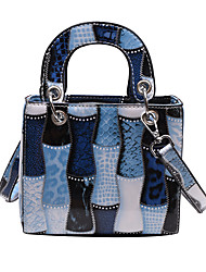 cheap -Women's Bags PU Leather Top Handle Bag Chain Geometric Date Going out Handbags Blue