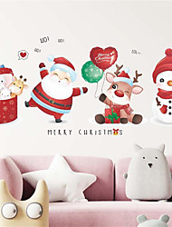 cheap -Christmas Gifts Santa Claus Snowman Window Glass Door Decoration Wall Stickers Self-adhesive 80*35cm