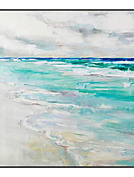 cheap -Oil Painting Handmade Hand Painted Wall Art Modern Fresh and Cool Seascape Abstract Picture Home Decoration Decor Rolled Canvas No Frame Unstretched