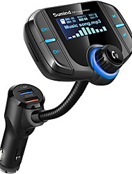 cheap -OTOLAMPARA Bluetooth FM Transmitter Sumind Radio Adapter Hands-Free Car Kit with 1.7-inch Display QC3.0 and Smart 2.4A Dual USB Ports AUX Input/output TF Card Mp3 Player