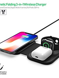 cheap -15 W Output Power USB 3 in 1 Wireless Chargers Wireless Charger Portable Short Circuit Protection over current protection CE Certified For Apple Watch Cellphone 1 pc