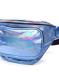 cheap -Women's Bags PU Leather Fanny Pack Zipper Plain Daily Outdoor Bum Bag Purple Silver Sky Blue Coffee